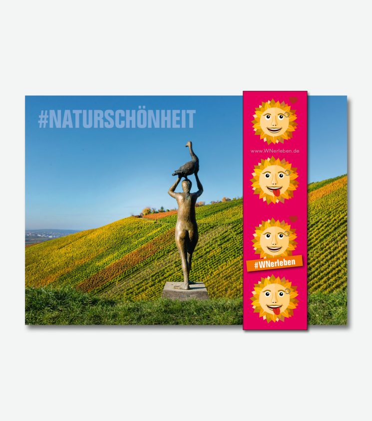 Postkarte Skulpturenpfad Strümpfelbach, Rems-Murr-Kreis