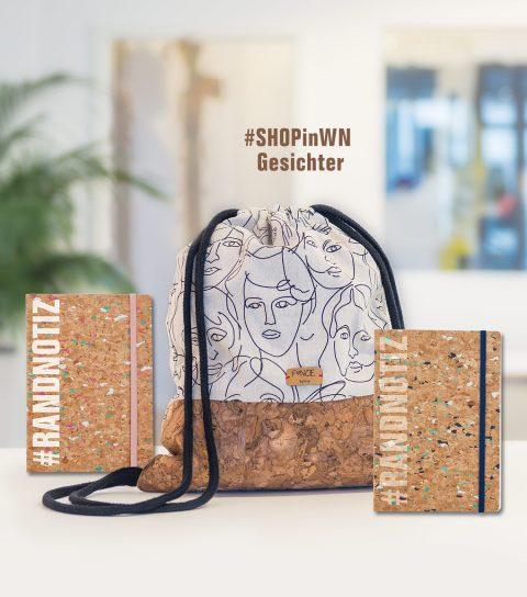 Shoppingbag und Notizbuch aus Kork